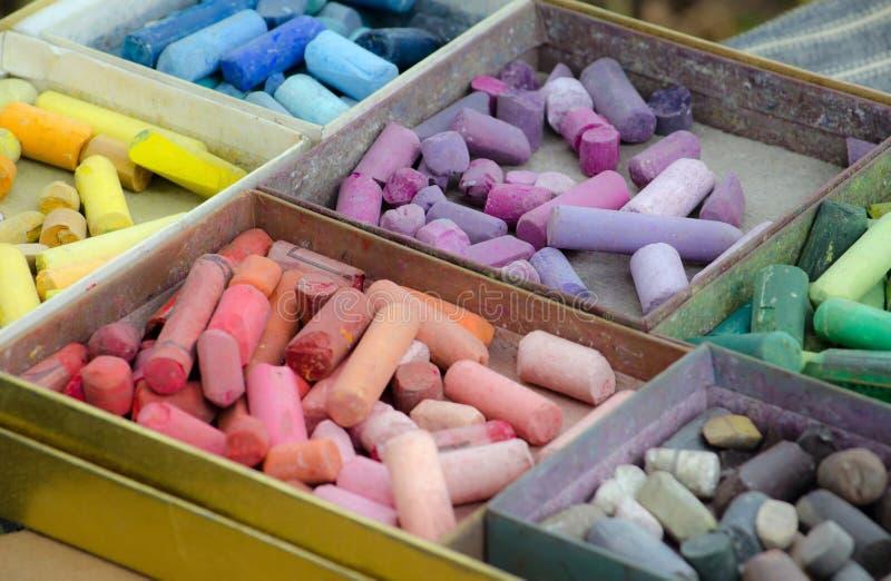 Pastels colorés photo libre de droits