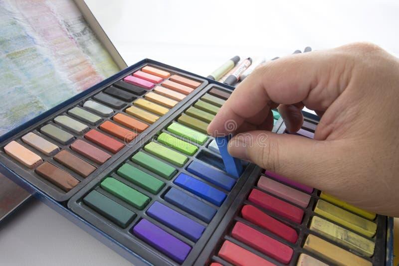 Pastels De Craie Image libre de droits