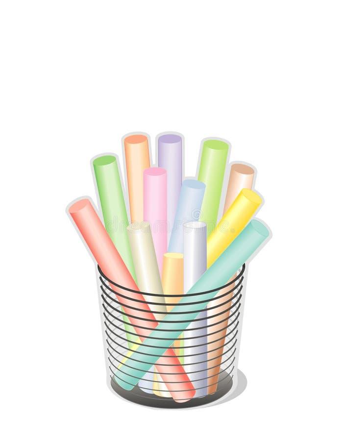 pastels légers de +EPS dans une cuvette   illustration stock