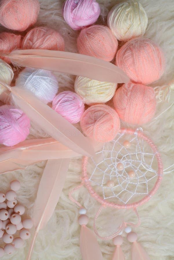 Pastelu wymarzony łapacz, robić bawełniana i akrylowa przędza obrazy royalty free