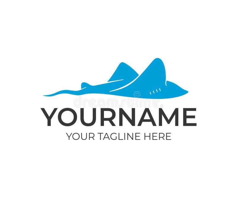 Pastenague de natation, conception de logo Poissons, animal, nature et monde sous-marin, conception de vecteur illustration de vecteur