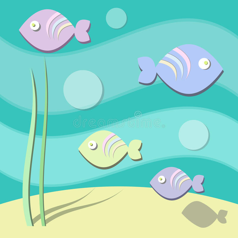 Pasterl Sea Pattern royalty free stock images