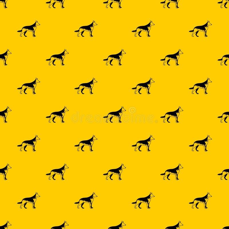 Pasterskiego psa wzoru wektor ilustracji