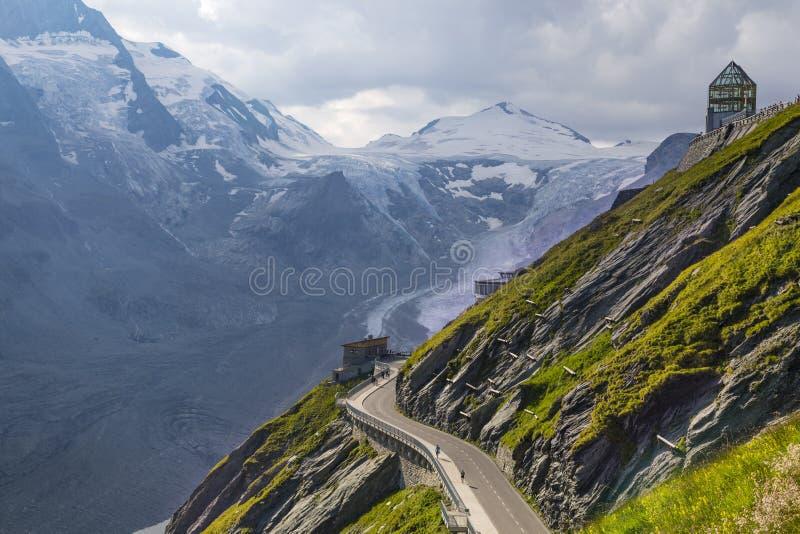 Pasterz lodowiec grossglockner wysokogórskiego w Austria zdjęcia royalty free