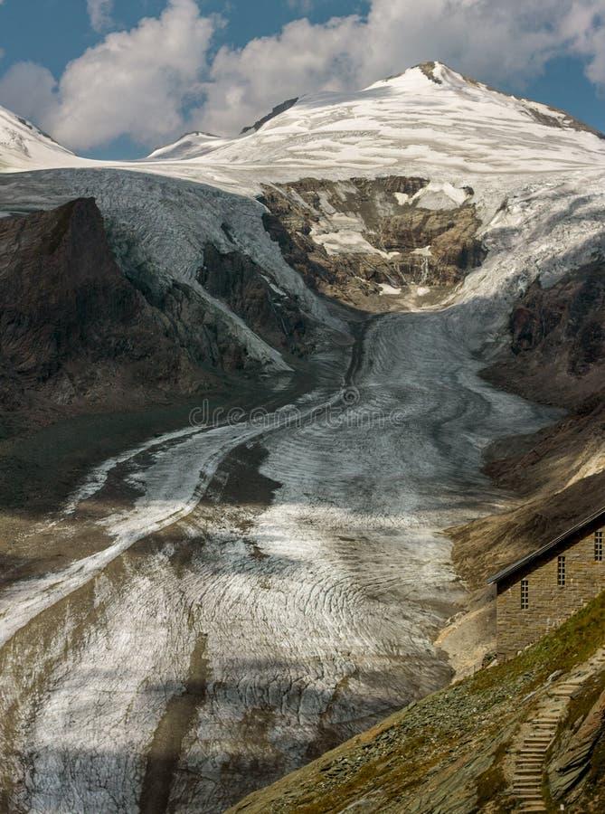 Pasterze-Gletscher in Österreich lizenzfreies stockbild