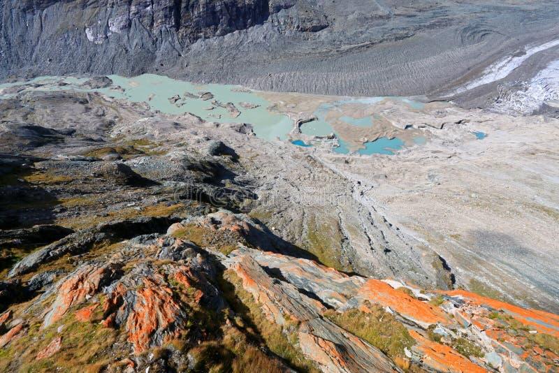 Pasterze-Gletscher bei Grossglockner in Österreich stockbild