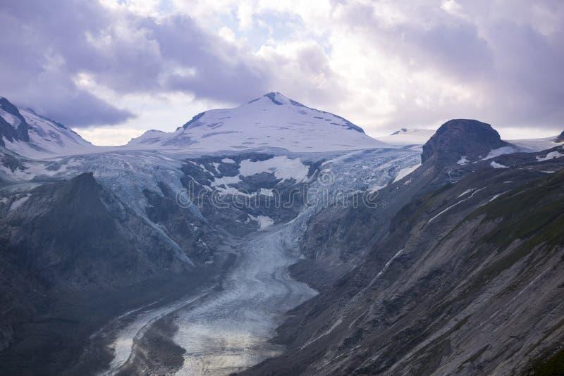 Pasterze-Gletscher Grossglockner hohe alpine Straße Österreich lizenzfreie stockfotos