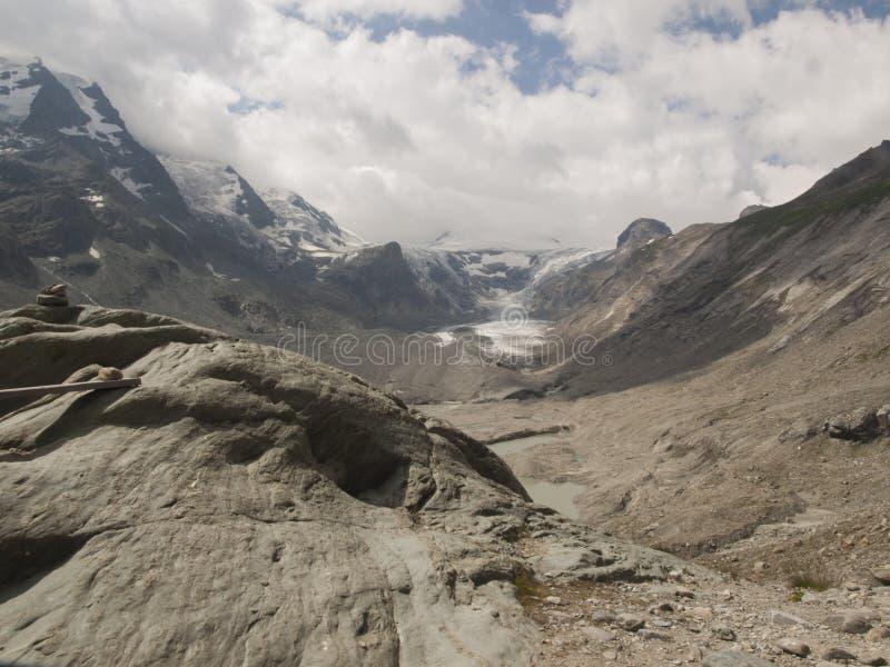 Pasterze-Gletscher, Heiligenblut, Österreich lizenzfreies stockfoto