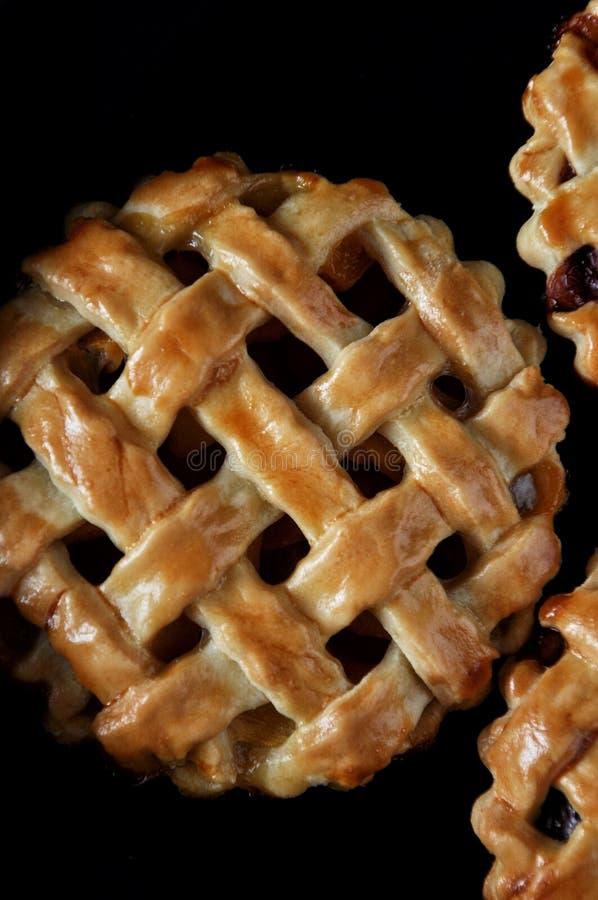 Pastetchen mit einem Gitter gemacht vom Teig Von den Erdbeeren anfüllen, Aprikosen, Nektarinen, Pfirsiche, Kirschen Nahaufnahme lizenzfreies stockbild