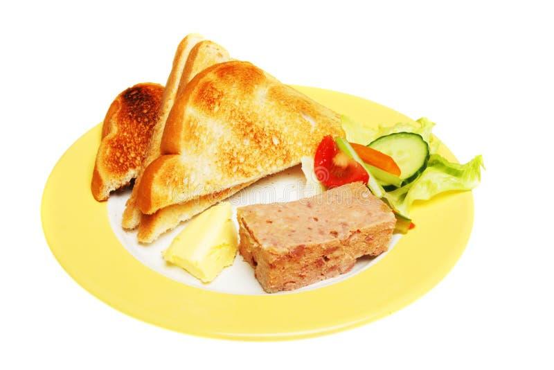 Download Pastete und Toast stockbild. Bild von getrennt, fleisch - 9092747