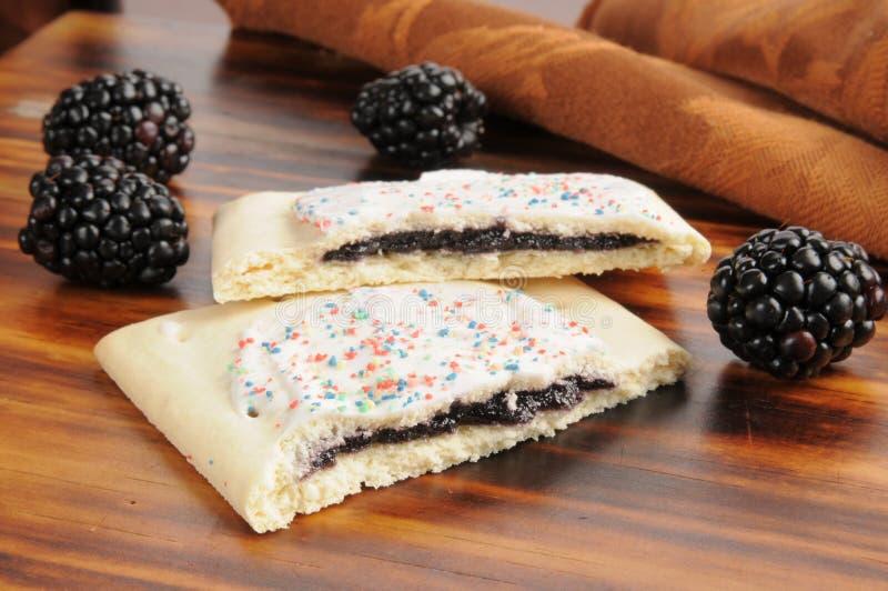 Pasticcerie del tostapane di Blackberry fotografie stock libere da diritti