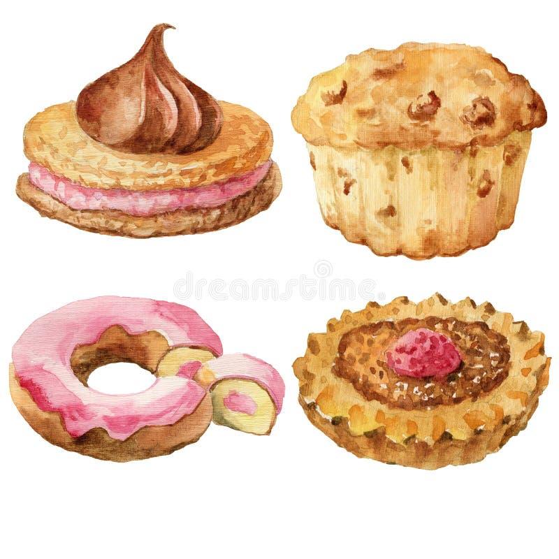 Pasticcerie dolci, dessert fotografie stock