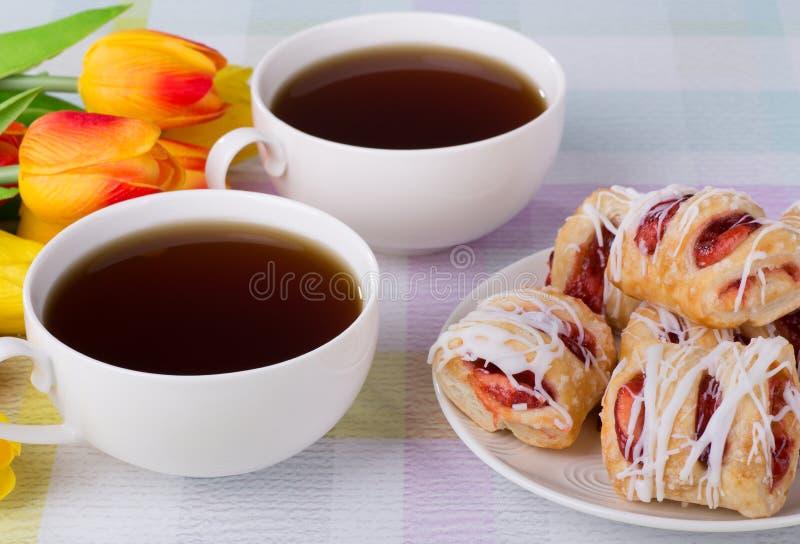 Pasticcerie e caffè della fragola immagine stock