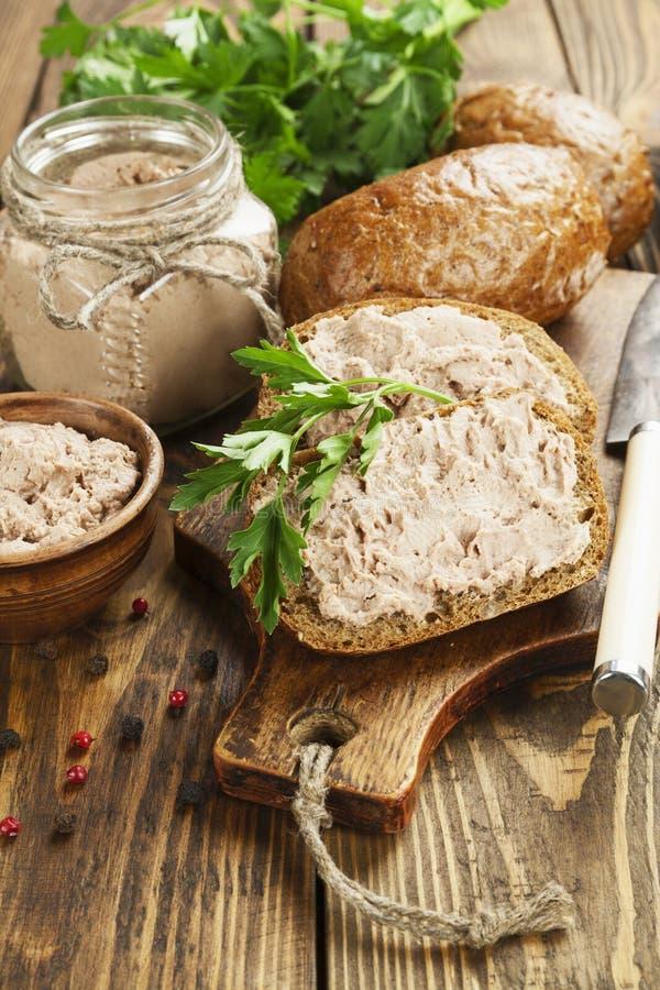 Pasticcio di fegato gastronomico immagine stock