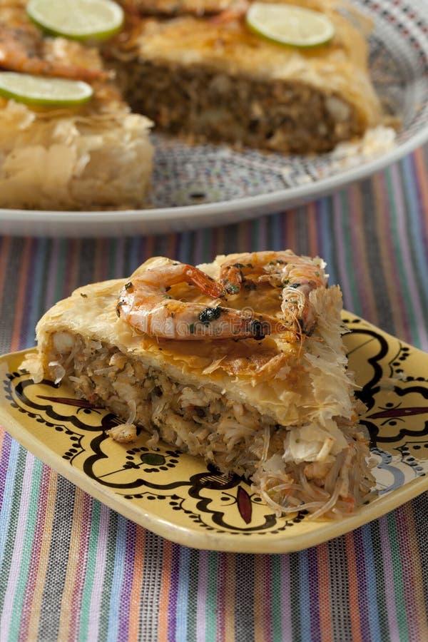 Pastilla marocain de poissons photo stock
