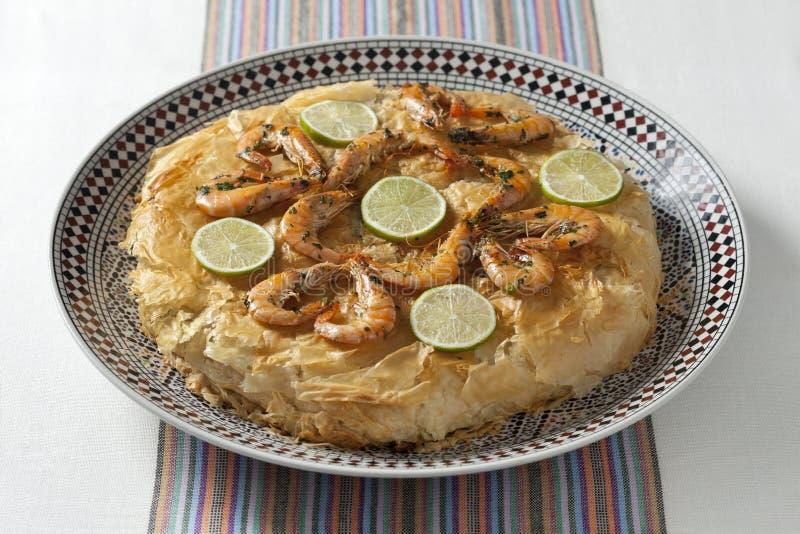 Pastilla marroquino dos peixes foto de stock