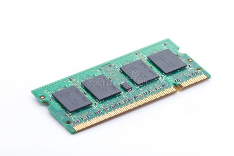 Pastille à MÉMOIRE VIVE d'ordinateur portable images stock