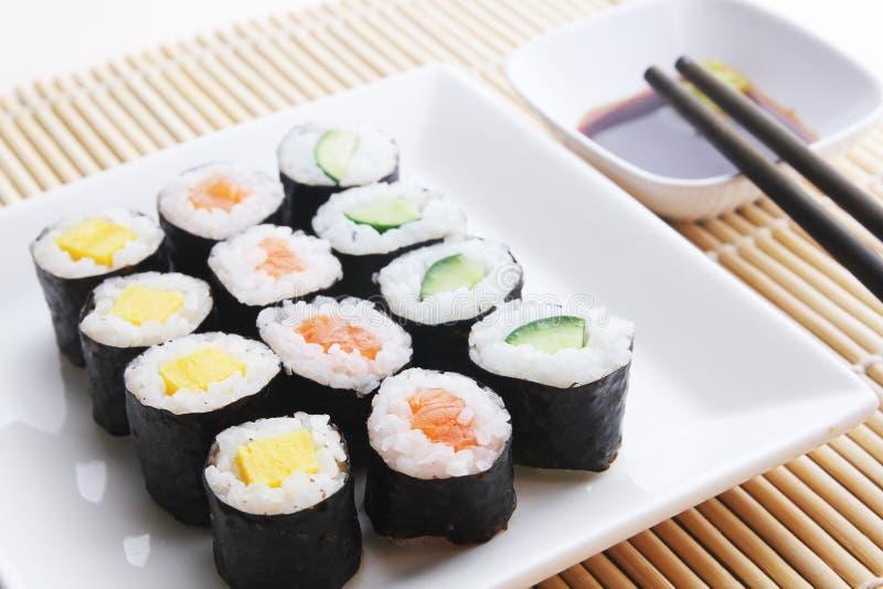 Pasto assortito dei sushi fotografia stock