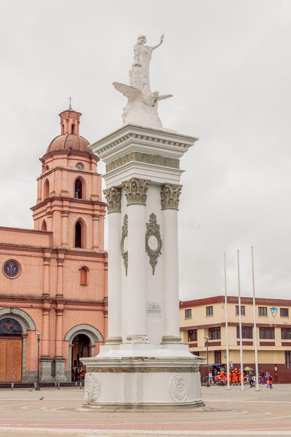 Pasto City, San Juan De Pasto Officially, South America royalty free stock image