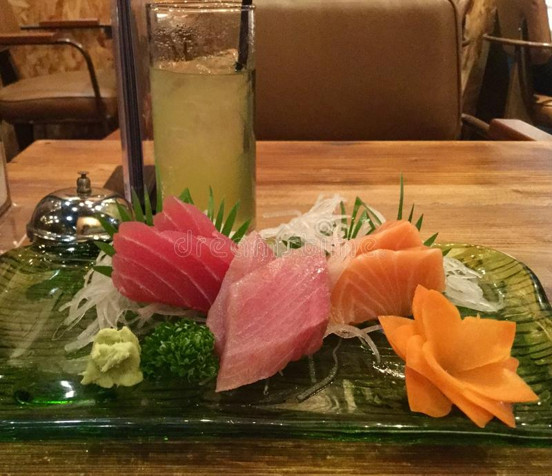 Pasto del buongustaio del sashimi immagini stock
