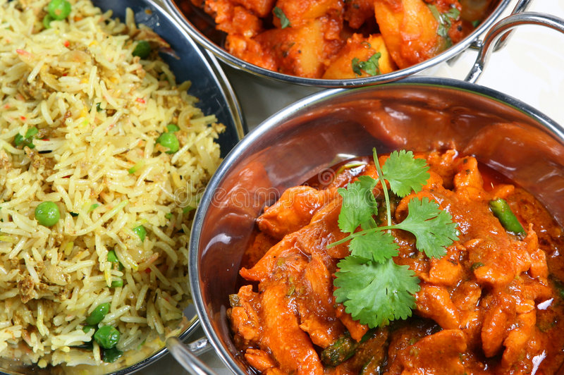 Pasto del curry fotografie stock libere da diritti