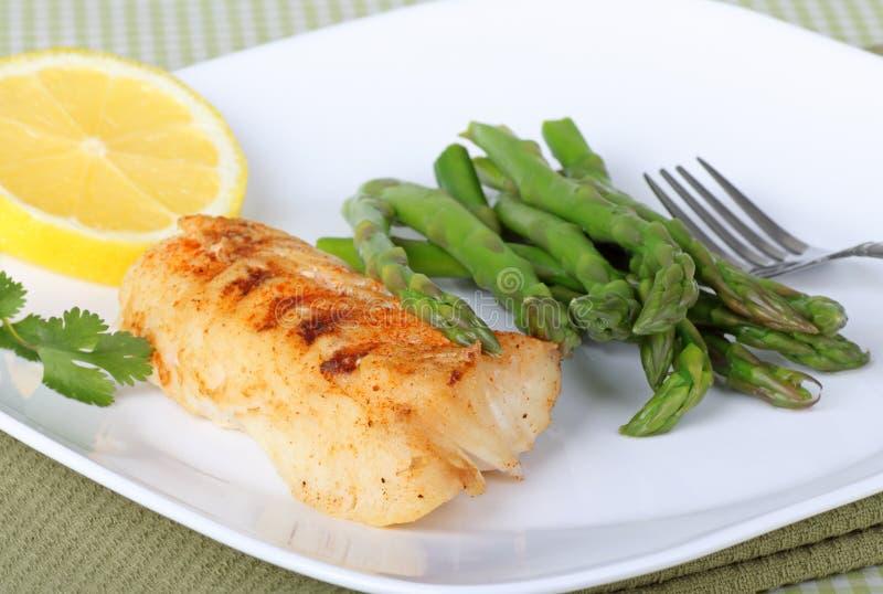 Pasto del filetto di pesce fotografia stock