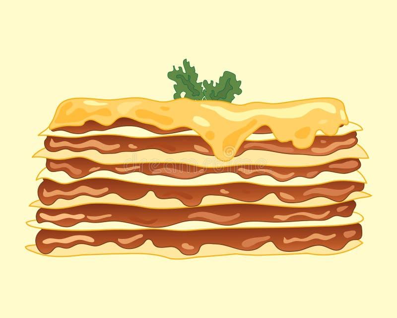 Pasto delle lasagne al forno illustrazione di stock