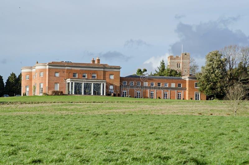 Pasto esplêndido da casa do parque de Highfield, Heckfield, Hampshire foto de stock royalty free