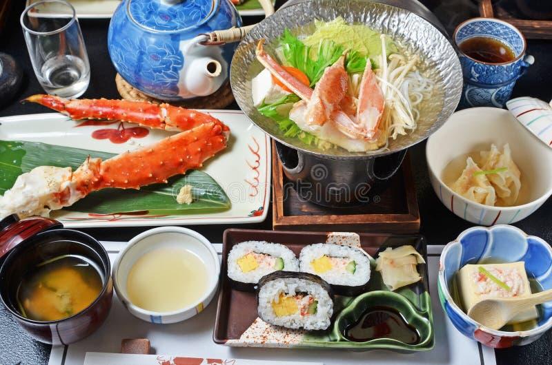 Cucina di Kaiseki del giapponese fotografie stock