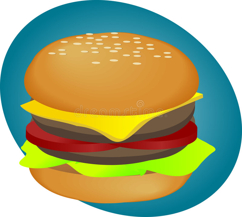 Pasto rapido dell'hamburger royalty illustrazione gratis