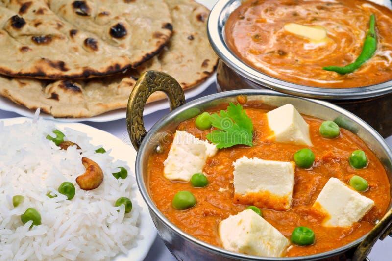 Pasto vegetariano indiano immagine stock libera da diritti