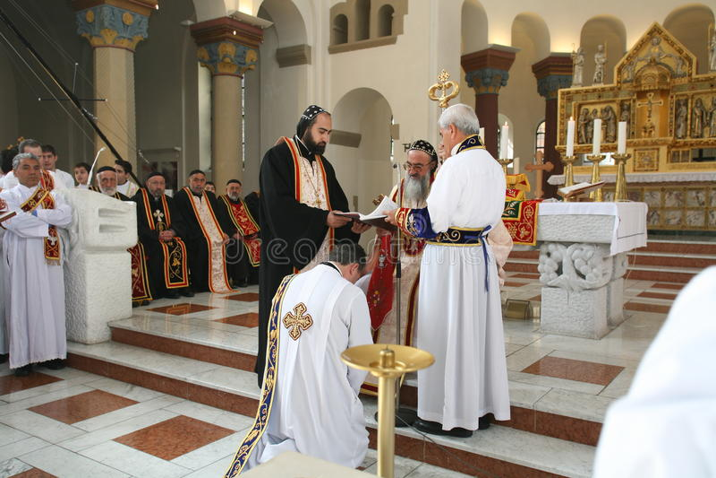 Pastor Ceremony a Berlino immagine stock