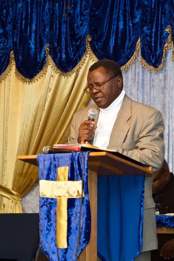 Pastor do americano do Kenyan imagem de stock