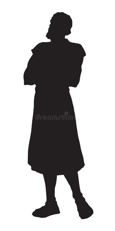 Pastor que guarda um cordeiro Desenho do vetor ilustração do vetor