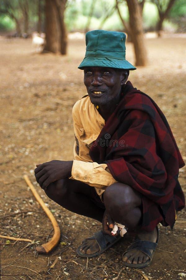 Pastor Turkana (Kenya) imagens de stock