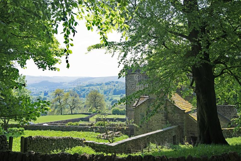 Pastoral perfection at North Lees Hall, near Stannage Edge, in Haversage. royalty free stock photography