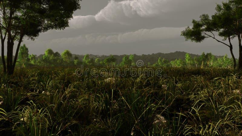 Pastoralna Krajobrazowa burza ilustracji