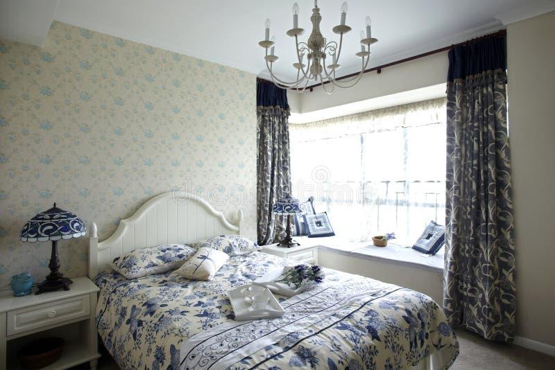 Pastoralna stylowa sypialnia zdjęcie royalty free