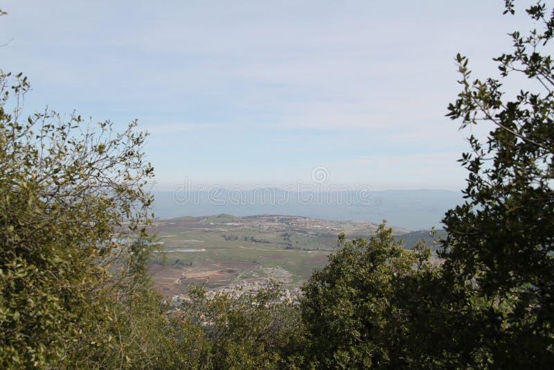 Pastoralny Galilee doliny krajobraz zdjęcie stock