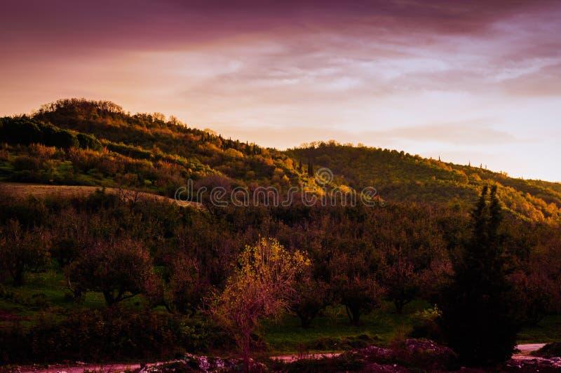 Pastoralny jesień krajobrazu środowisko zdjęcie stock