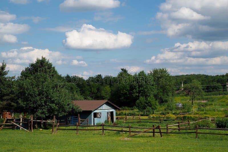 Pastoralny kraju Corral zdjęcie royalty free