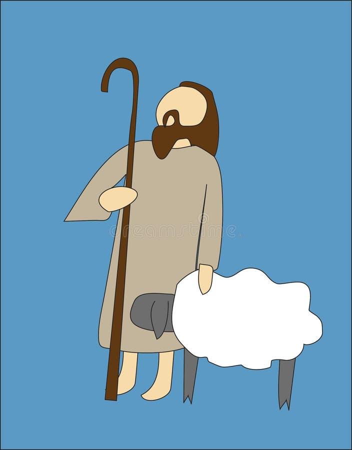 Pastore illustrazione vettoriale