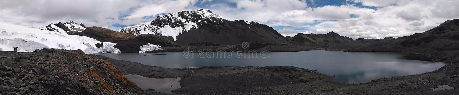 The Pastoruri glacier is a cirque glacier, located in the southern part of the Cordillera Blanca, part of the Andes mountain range. In Northern Peru in the royalty free stock photography