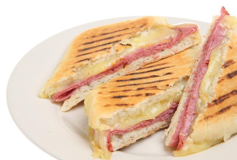 Download Pastrami & Cheese Panini stock image. Image of food, pastrami - 10834955