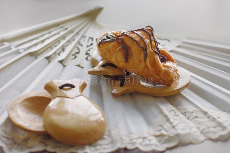 Pastrie et castagnettes image stock