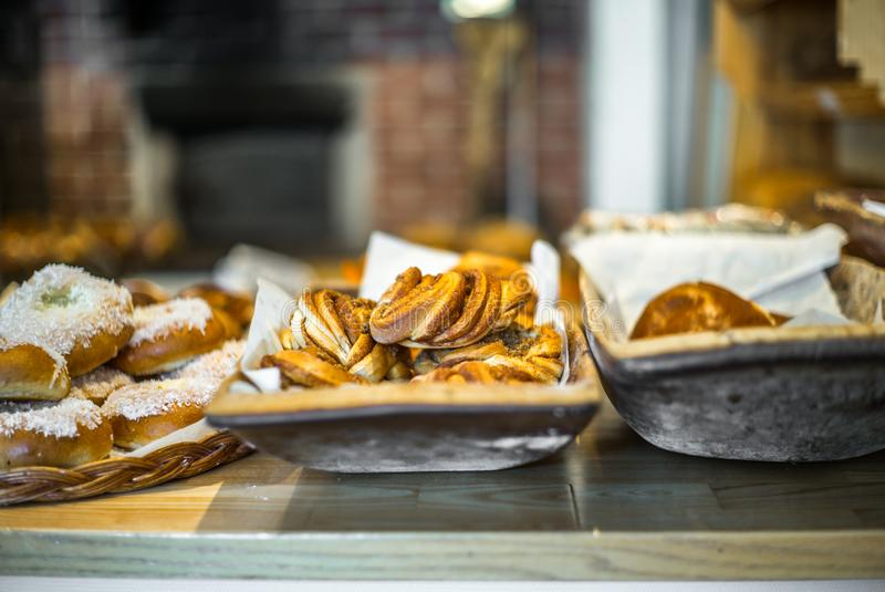 Pastries and cakes in a typical Norwegian bakery - 2. Pastries and cakes in a typical Norwegian bakery royalty free stock photography