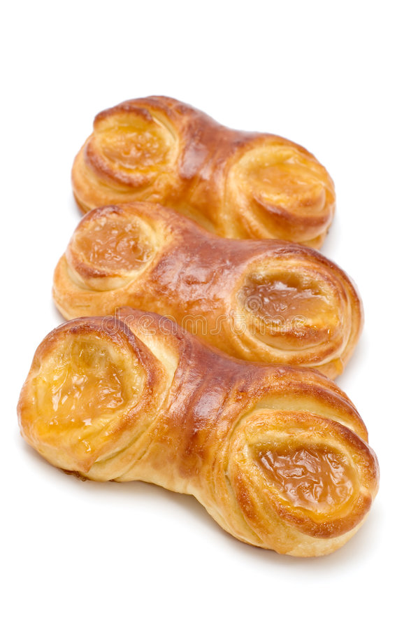 Pastry filled with jam stock image