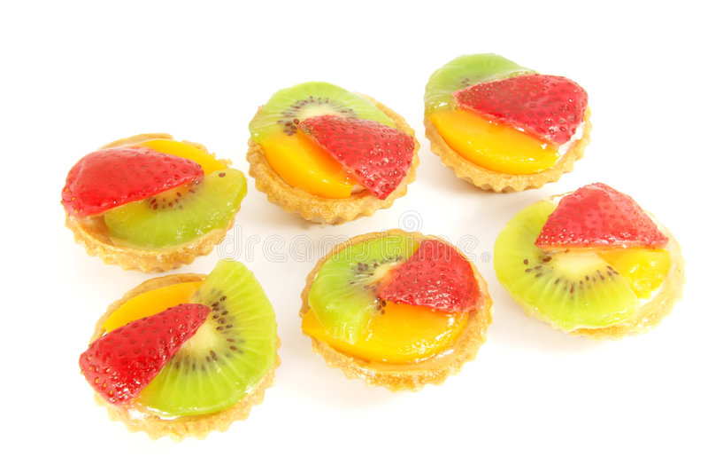 Pastry Fruit Tarts royalty free stock photo