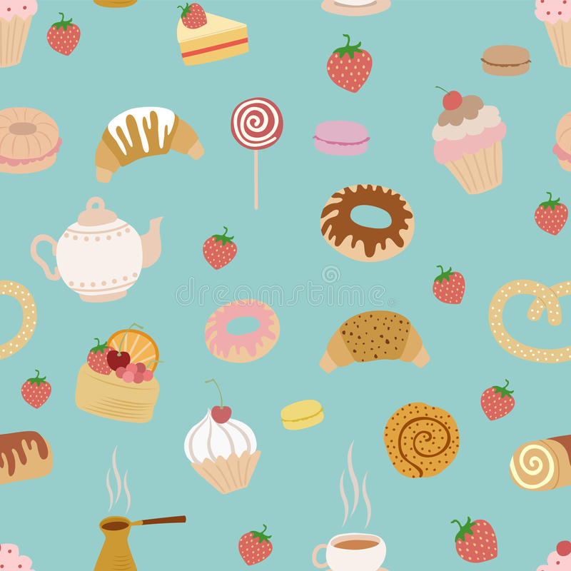 Download Pastry pattern stock vector. Image of baker, graphic - 25422703