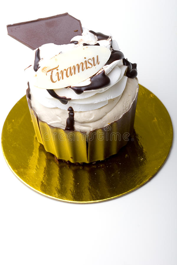 Pastry Tiramisu dessert cake in a chocolate cup royalty free stock photography